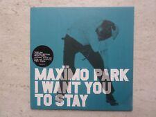 "MAXIMO PARK ""I WANT YOU TO STAY(CRISTIAN VOGEL MIX)"" 7"" LTD WHITE  VINYL SINGLE"