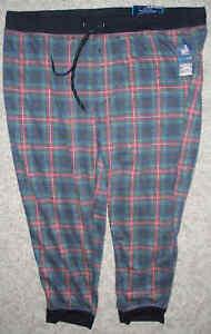 Fruit Of The Loom Men's Grommet Jogger Sleep Pants-Tartan Plaid-3XL 48/50-Combo
