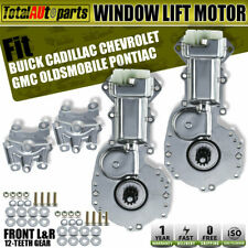 2pcs Front Left or Right Window Motor 12-Teeth for Buick Cadillac Chevrolet GMC