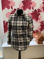Firetrap Ladies check coat size M Excellent Condition