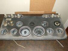 Vintage Boat Control Instrument Panel with Gauges & key