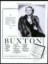 1939 Eugenia Buxton photo piano recital tour booking vintage trade print ad
