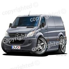 Mercedes Sprinter Van - Vinyl Wall Art Sticker - Grey