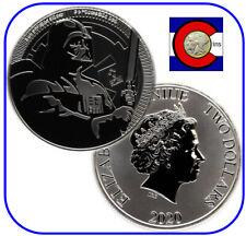 2020 Niue Darth Vader Star Wars $2 1 oz BU Silver Coin in direct fit capsule