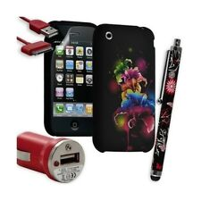 Housse Étui Coque en Gel + Chargeur Voiture Auto + Stylet pour Apple Iphone 3G /