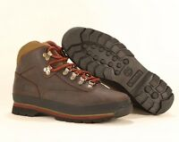 Timberland MEN'S CLASSIC LEATHER EURO HIKER Brown Ankle Shoes BOOTS Style #6534A