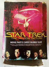 1979 Topps STAR TREK Movie Photo Card Sticker Wax Box 36 Packs Topps Paramount