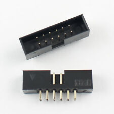 10Pcs 2mm 2x6 Pin 12 Pin Straight Male Shrouded PCB Box header IDC Connector