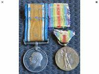 WW 1 Medals Miniatures Genuine Originals
