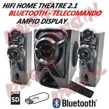 STEREO HIFI A3320 VIRTUAL SURROUND 2.1 BLUETOOTH USB HOME THEATER TELECOMANDO