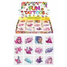 Girls SUPER HERO Temporary Tattoos Children's Birthday Loot Party Bag Filler