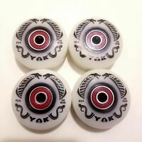 8-Pack 56mm Outdoor Aggressive Rollerblade Inline Skate Wheels with Bearings