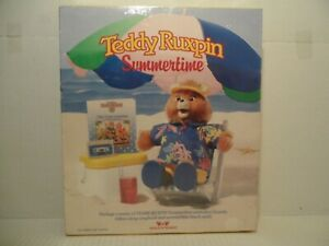 Teddy Ruxpin Summertime beach outfit songbook animation cassette tape New in Box
