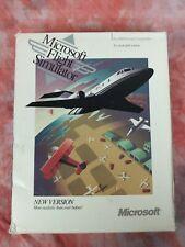 Microsoft Flight Simulator Ver 4.0 IBM PC Big Box Game COMPLETE 1991 3.5 Floppy