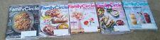 Family Circle lot of 5 magazines/ Catalog May-Sep 2017 New sealed never opened
