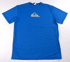 MENS blue comfort ATHLETIC sport SHIRT = QUIKSILVER = SIZE XL xlarge = #p59