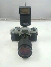 Canon AV-1 35mm SLR Camera with Accessories