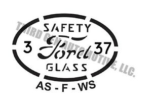 """1932-52 Ford glass etching kit original style glass """"bugs"""" for your restoration"""