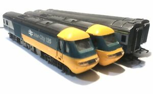 HORNBY HST CLASS 43 BLUE/GREY SET LED HEADLIGHTS + COACHES FITTED WITH LIGHTS