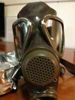 German M65 Drager Military Gas Mask Respirator (no filter) Authentic SHOWS WEAR