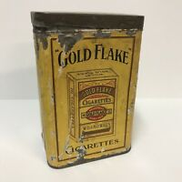 VTG Wills's Gold Flake 200 Cigarettes Honey Dew Metal Tin Canister Box Yellow
