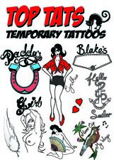 EXTRA LARGE Amy Winehouse Fancy Dress Temporary Tattoos,Halloween Tribute Outift