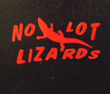 NO LOT LIZARDS DECAL TRUCKER NO PROSTITUTES SOLICITING SEX VINYL WINDOW STICKER