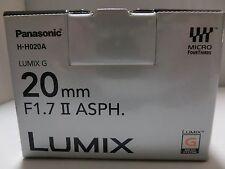 Brand New Panasonic LUMIX G 20mm/F1.7 II ASPH. H-H020A-S Lens  Silver