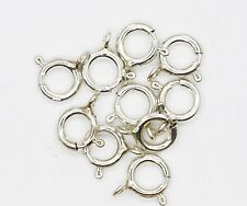 "Spring Ring Clasp 1/4"" (6mm) Sterling Silver Pack of 10"