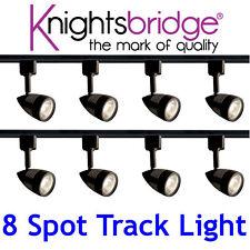 Knightsbridge Track Lighting 4m Meter 8x Spotlight GU10 LED Spot Light Black