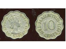 ILE MAURICE   10  cents 1971