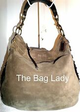 Coach 12659 Brown Suede Leather XLarge Editorial Zoe Chain Shoulder Bag Preowned
