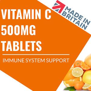 Vitamin C 500mg Tablets - High Strength - Vegan - Immune Support - Immune Health