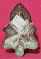 AKCAM TURKISH GLASS~SET OF 4~SILVER GLITTERED CHRISTMAS APPETIZER PLATES~NEW