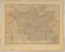 BRANDENBURG Frankfurt ODER Original Landkarte von1859/49 BERLIN Potsdam KOTTBUS