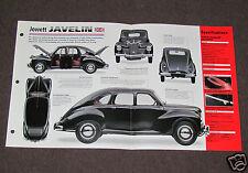 1947-1953 JOWETT JAVELIN (1950) Car SPEC SHEET BROCHURE PHOTO BOOKLET