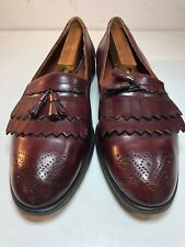 Bostonian Florentine Burgundy Leather Loafers Shoes Mens 13 M Made In Italy