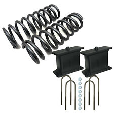 "2/3 Drop Kit S10 2wd 4 cyl 2"" Front Springs 3"" Rear Fab Steel Blocks Ubolts xzx"