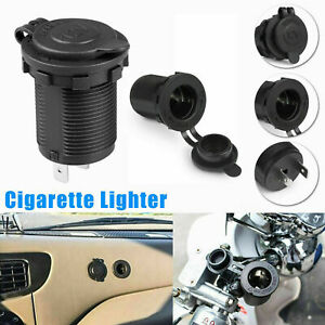 12V Car Motorcycle Boat Cigarette Lighter Female Socket Power Plug Waterproof