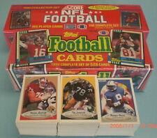 3 1990 FOOTBAL CARD SETS TOPPS SCORE FLEER