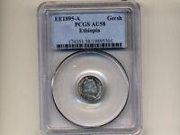 Ethiopia:1 Gersh,1895 * PCGS AU 58 * Silver *