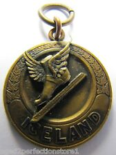 1931 ICELAND ICE SKATING Medallion Fob Ornate Ice Land Sports Award Medal