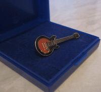 Les Paul Electric Guitar Pin Badge Brooch Lapel Enamel Music Gifts - GIFT BOXED