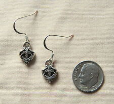 New BRIGHTON Eternity Cross TRINITY SHIELD custom .925 earrings FREE SHIPPING !!