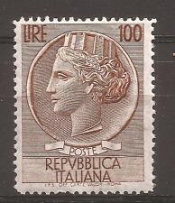1955 ITALIA TURRITA L. 100 n° 765/I NUOVO MNH** CON CENTRATURA OTTIMA € 33,00