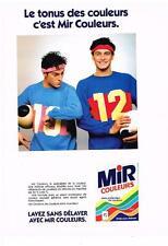 PUBLICITE ADVERTISING  1981  MIR  le tonus des couleurs lessive
