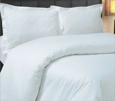 """EGYPTIAN COTTON 800 THREAD COUNT STRIPE WHITE KING SIZE 16"""" DEEP FITTED SHEET"""