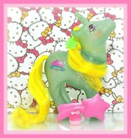 ❤️My Little Pony MLP G1 Vtg Glitter Sparkle STAR HOPPER Unicorn Original BRUSH❤️