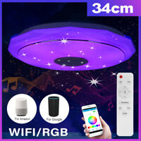 13.4inch RGB Smart LED Ceiling Lights Spotlight Lamp Wireless bluetooth WIFI APP