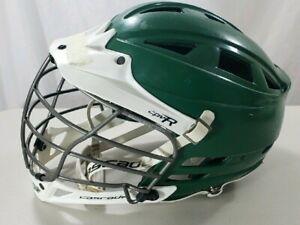 Cascade CPV-R Lacrosse Helmet Green White Visor M/L - R + Chin Guard Strap